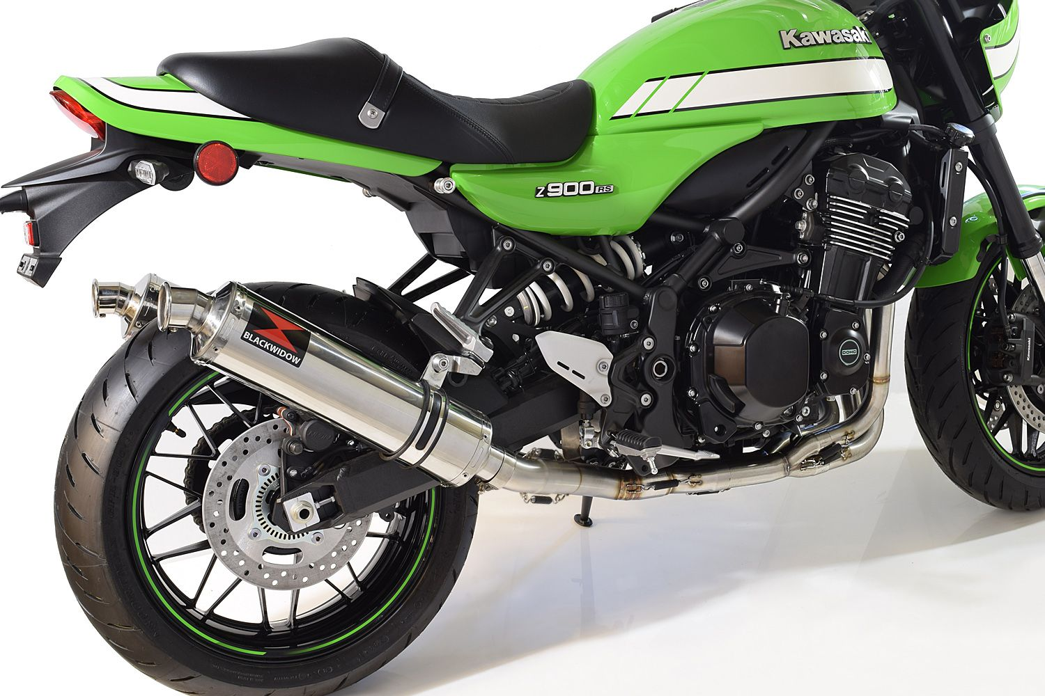 Z900RS & Cafe 4-2 De-Cat Performance Exhaust System 400mm Round Stainless  Silencers
